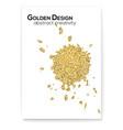 splashes from ink glittering effect golden dust vector image vector image
