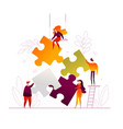 teambuilding - modern flat design style colorful vector image vector image