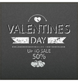 Template valentines day up to sale 50 card vector image vector image