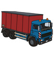 Truck with a container vector image