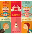 Valentines Day Posters vector image vector image