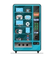 vending machine with electronic devices vector image vector image