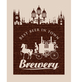 Vintage banner for the brewery vector image vector image