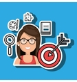 woman target student icon vector image