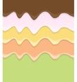 Cream Cake Icing Background vector image