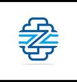 Logo Combination of Alphabet Z Art Collection vector image