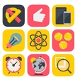 Clean and simple education icons for mobile OS vector image