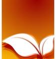 Orange leaves autumn wave design vector image
