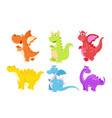 set of colorful funny vector image