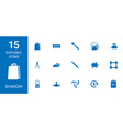 15 shadow icons vector image vector image