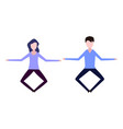 a man and a woman levitate vector image