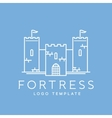 Abstract Fortress Line Style Logo Template vector image vector image