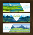 alpine meadows banners set vector image vector image