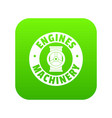 automation machinery icon green vector image vector image