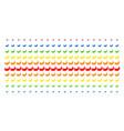 banana shape halftone spectral effect vector image