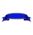 blue ribbon banner satin glossy bow blank design vector image vector image