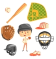Boy Baseball PlayerKids Future Dream Professional vector image vector image
