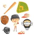 Boy Baseball PlayerKids Future Dream Professional vector image