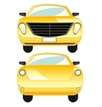 Car type frontal and behind vector image vector image