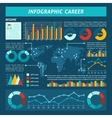 Career Infographics Set vector image vector image
