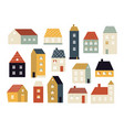 cartoon houses various small cute houses simple vector image