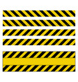 caution tape grunge set design isolated on white vector image