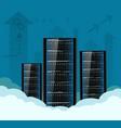 cloud computing server for data storage vector image
