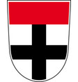 coat of arms of konstanz city in vector image