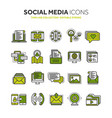 communication social media online chatting vector image
