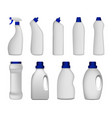 detergent bottle clean mockup set realistic style vector image