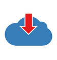 download cloud icon vector image