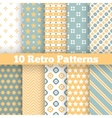 Fashion retro different seamless patterns vector image