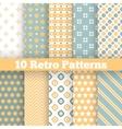 Fashion retro different seamless patterns