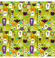 Flat Halloween Holiday Elements Seamless Pattern vector image vector image