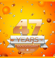 forty seven years anniversary celebration design vector image
