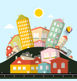 funky houses abstract landscape vector image vector image