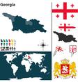 Georgia map world vector image vector image