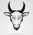 Goat Head Mascot vector image vector image