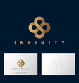 gold flower celtic ornament logo infinity vector image