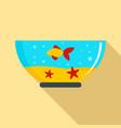 goldfish in aquarium icon flat style vector image vector image