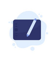 graphic tablet icon on white vector image