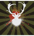 Grunge Stag2 vector image vector image