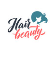 hair salon logo beauty lettering custom vector image vector image