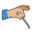 hand with dropper for urine test vector image