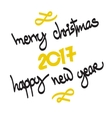 Happy 2017 New Year Merry Christmas vector image
