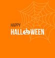 happy halloween greetings card with pumpkin and vector image