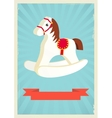 hobby horse background vector image