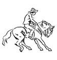 horseback rider vintage vector image vector image