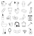 Hygiene And Bathroom Icons Set vector image vector image