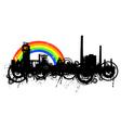 industrial rainbow vector image vector image